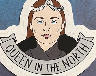 Sansa Stark - Queen in the North - Game of Thrones Vinyl Sticker