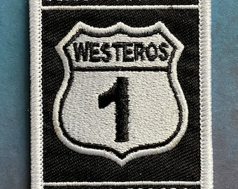 Westeros Kingsroad Highway 1 Embroidered Patch - Game of Thrones