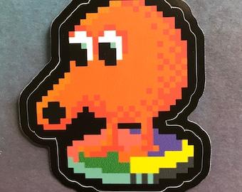 QBert Retro Gaming Video Game Sticker