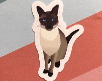 "Elvis the Siamese Cat 3"" Sticker - MFM - Murderino"