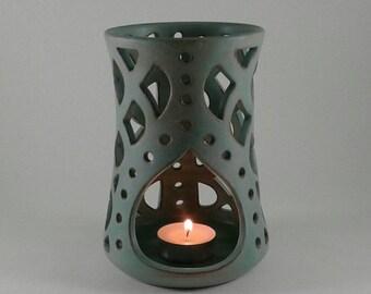 d7738b5d98 Handmade Ceramic Tealight Candle Holder - Ceramic Candle Lantern