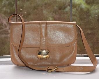 295446490b9 CELINE Beige Tan Vintage 1970 s Shoulder Flap Bag   Convertible Clutch With  Gold Accents    Authentic Vintage 70 s Celine Handbag Purse