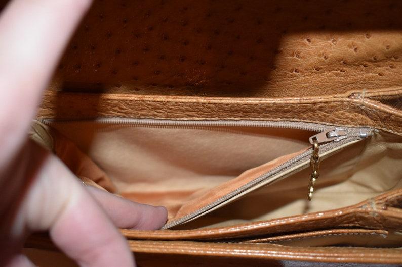 ec6f617692d8c GUCCI Vintage Ostrich Tan Camel Leather Shoulder Handbag With GG logo  Horsebit & Original Box / Authentic Early 1980s Gucci Honey Purse Bag