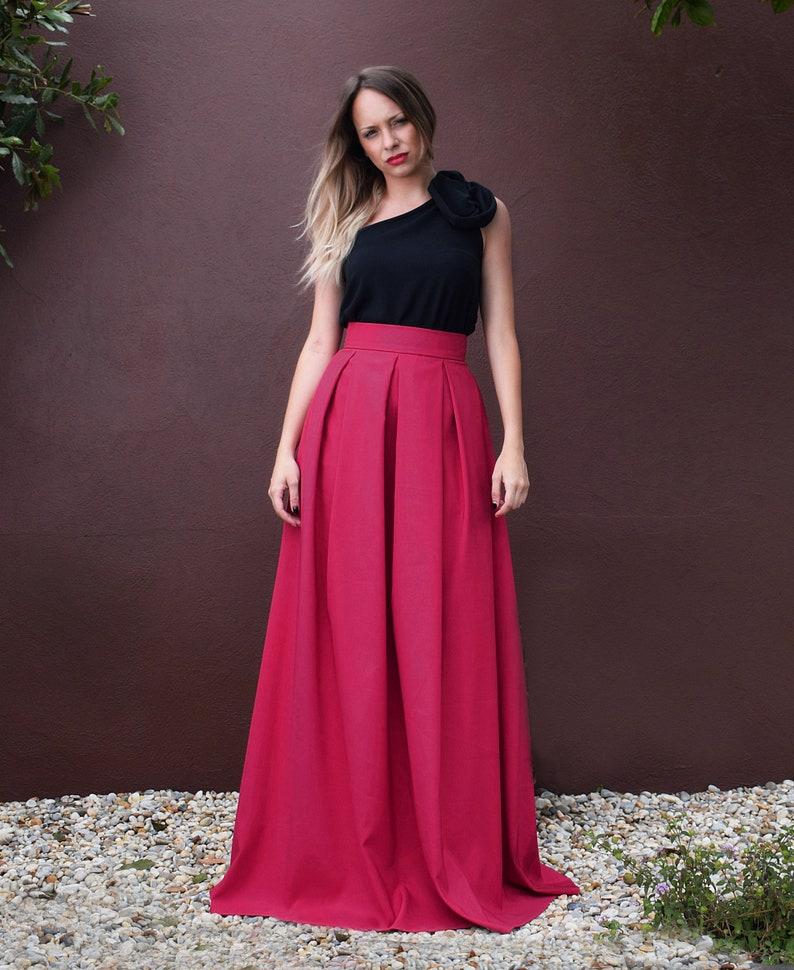 8d0715d57e Falda larga tablas falda larga con bolsillos falda larga