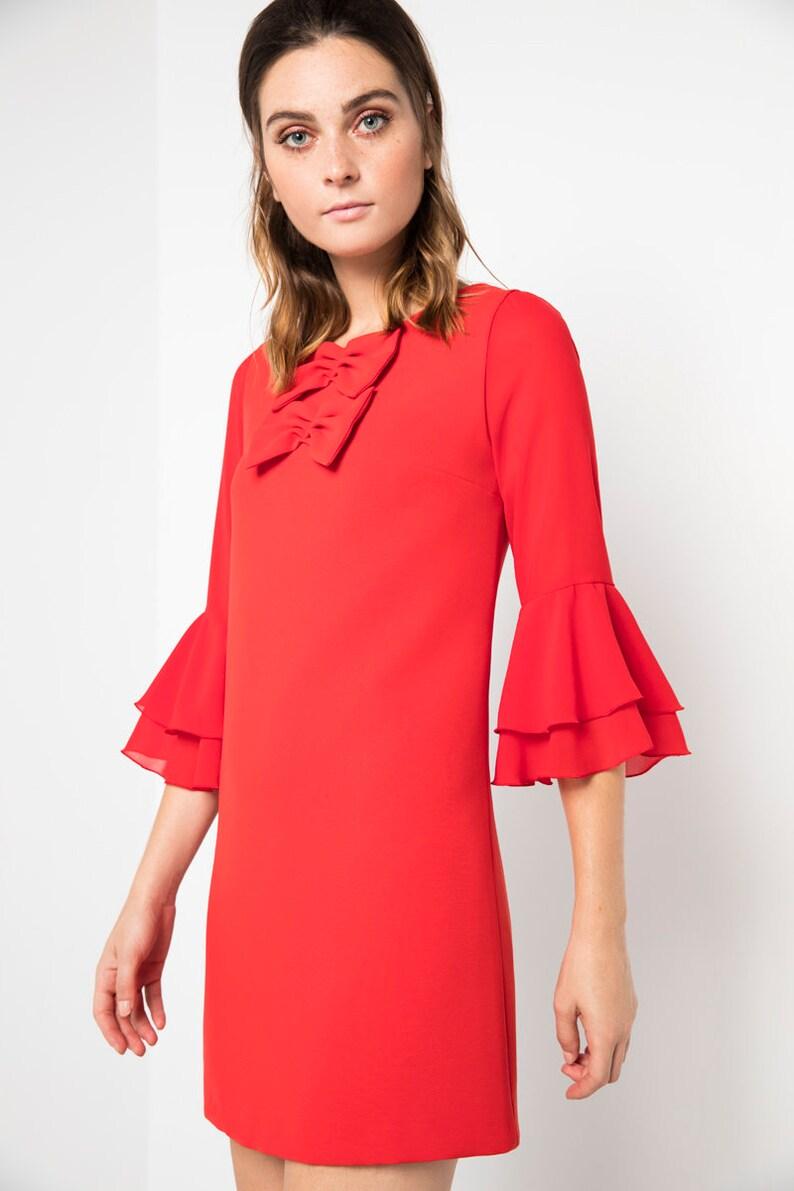 3e26a649b3 Vestido corto rojo vestido para boda vestido fiesta vestido