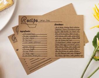 15 Recipe Cards