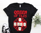 Cool Mahjong Tile Shirt, Chinese Game Tank Top, East Asia Crop Tee, Dragon Writing Shirts, Golden Magical Gifts, Tournaments Party Present