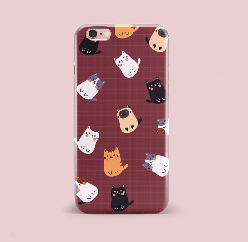 timeless design 842fd 9ea05 iPhone X Case Cat Case iPhone 8 Plus Case iPhone 7 Plus Case iPhone 6 Plus  Case Kitty Case iPhone Xr Case iPhone Xs Case Cute Case Cartoon