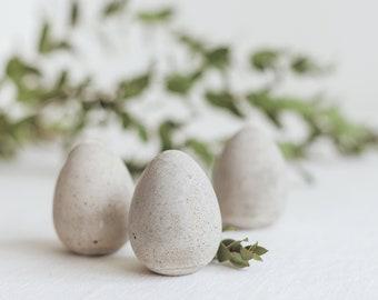 3 Concrete Egg for DIY decoration for Easter Eggs
