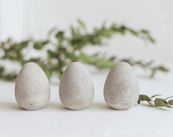 6 Cement Eggs for Easter DIY decoration