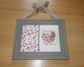 cross-stitch Embroidery frame painting welcome