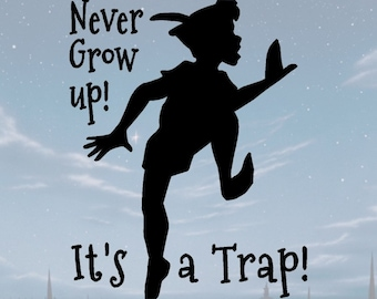 Peter Pan Svg Disney Never Grow Up Peterpan Neverland Download Etsy