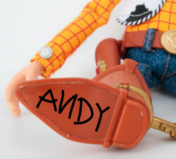 ANDY SVG Toy Story Woody's Boot Signature only clipart   Etsy