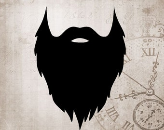 Beard SVG Face Hair Dad Father Download Graphics T-shirt or Vinyl graphics Cut with Cricut or other Vinyl Cutters