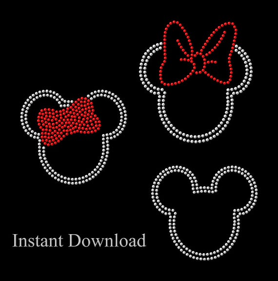 Mickey Mouse Rhinestone And Minnie Mouse SVG Pattern For Etsy Stunning Mickey Mouse Pattern