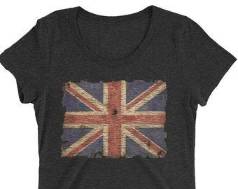 4ca1dd36 Union-Jack woman t shirt - patriotic tshirts - vintage british flag shirt -  woman t shirt