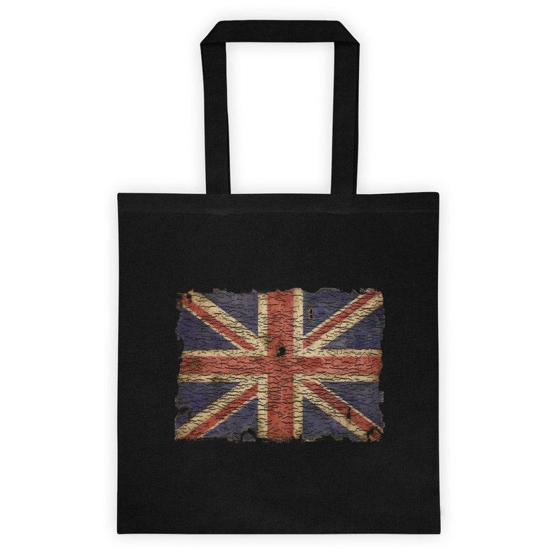 patriotic vintage English flag Tote bag