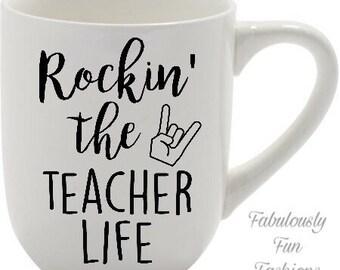 Rockin' The Teacher Life Coffee Mug