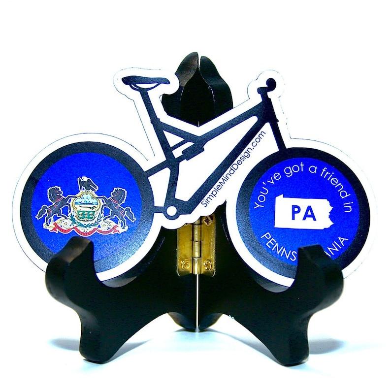 Weatherproof Die Cut Decal Pennsylvania Mountain Bike Magnet