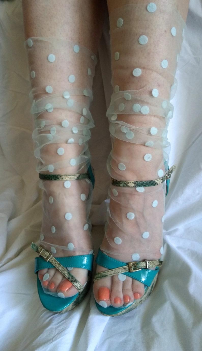 1c7701a719ee0 Sheer Hosiery Glitter and Stars Socks Sparkle socks Tulle   Etsy