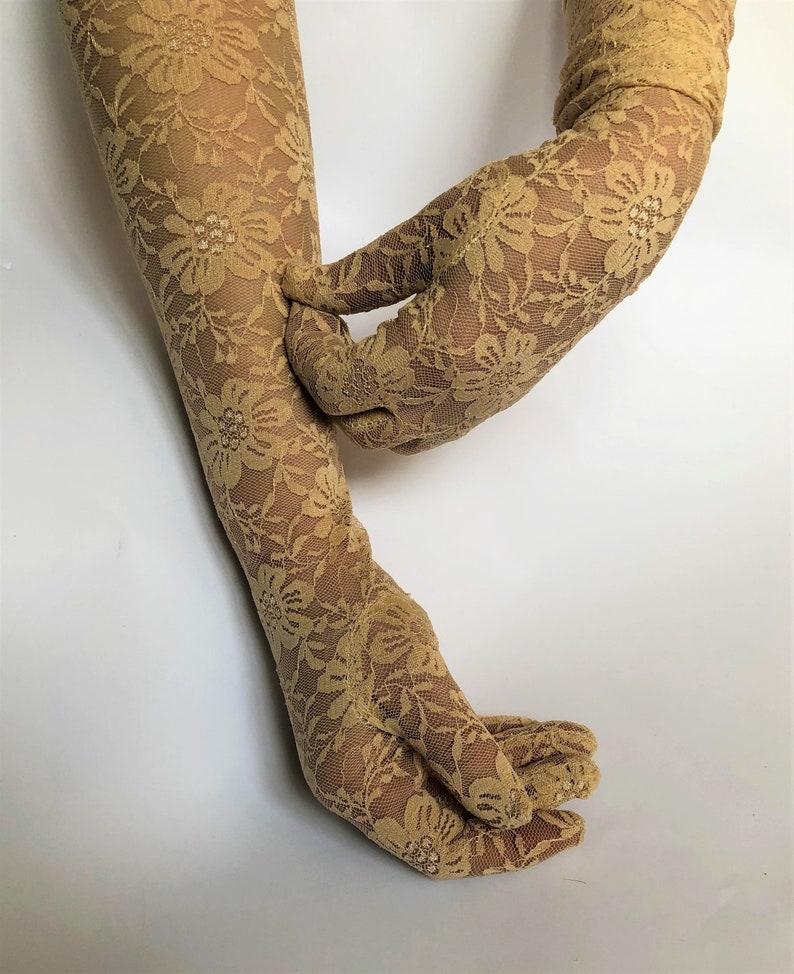 Boao - 3 Pairs Sunblock Fingerless Lace Gloves Wrist