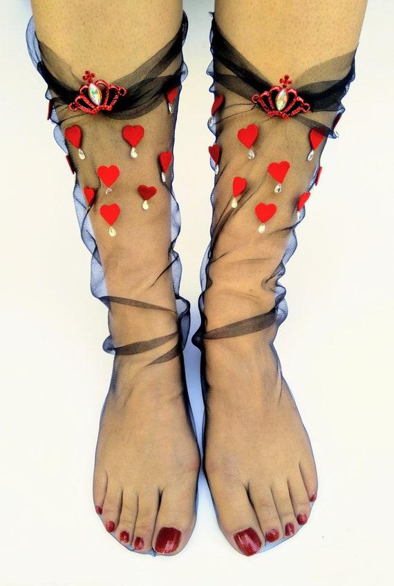 fefc0d34cca8f Women's clothing Glitter Socks Tulle Socks Transparent   Etsy