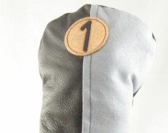Leather and Canvas Golf Club Headcover