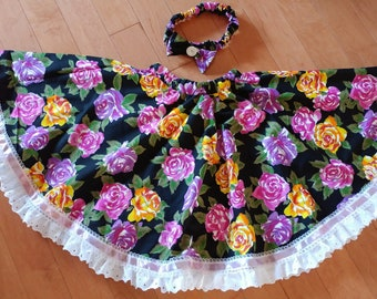 Twirling circular skirt for girl or toddler