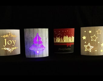 Lighted Paper Lanterns -  Complete Set of Four