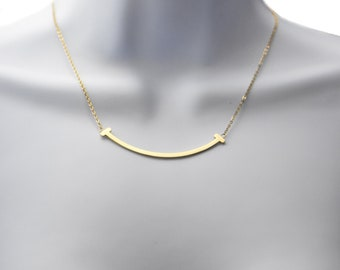 1ae222ee55a2f Smile Necklace Gold