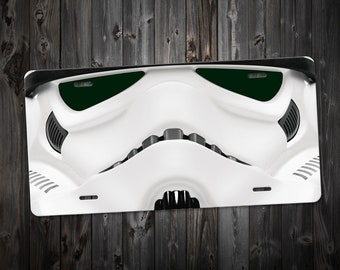 Space Trooper - Custom Graphic License Plates - High Resolution - Aluminum - UV Protected