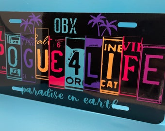 Outer Banks - Pogue Custom Graphic License Plates - High Resolution - Aluminum - UV Protected