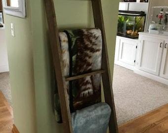 5 Foot Blanket Ladder   Decorative Ladder   Rustic Wood Ladder   Towel  Ladder   Quilt Ladder   (Additional Colors Available)