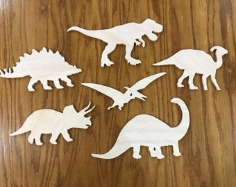and other DIY projects Home /& Room D\u00e9cor Many Sizes Available Dinosaur 005 Wooden Cutout for Crafting