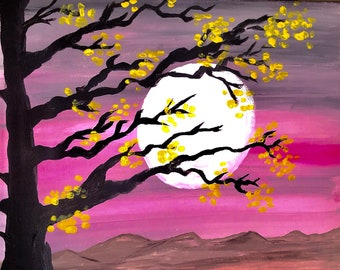 Pink Breeze, Yellow Trees by Jaelyn Swan