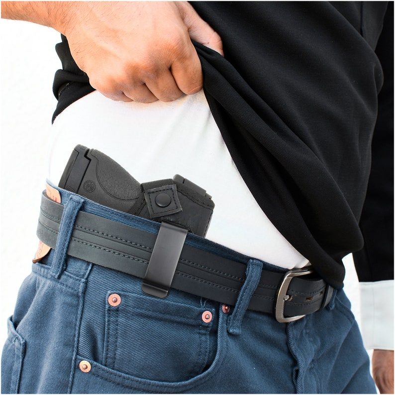 Concealed Carry PU Leather Magnet Soft Interior by PH Fits M/&P Shield 9mm.40.45 Glock 26 27 29 30 33 42 43 Combo IWB Gun Holster