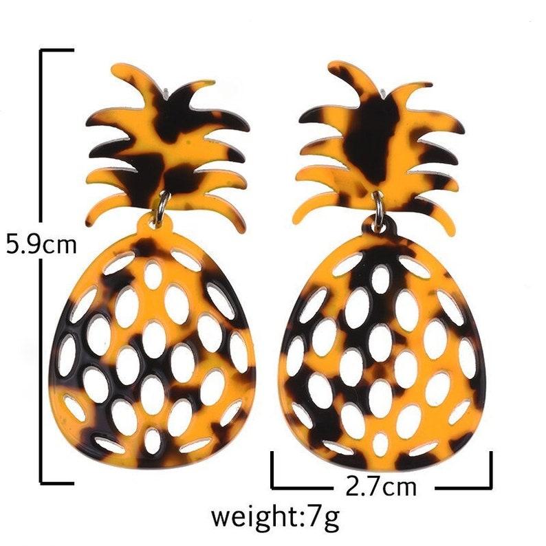 Tiki Pineapple Earrings