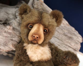Parker, collectible artist bear, teddy bear, mohair bear, artist bear