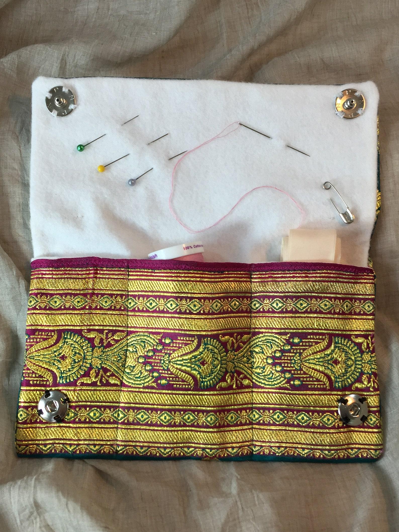 pointe shoe sewing kit, ballet sewing kit, wallet sized elegance