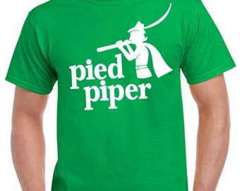 Pied piper Silicon valley symbol stylish art men woman available t shirt black