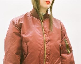Maroon Red Bomber Jacket