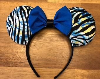Animal Print Ears Zebra Print - Animal Kingdom Ears