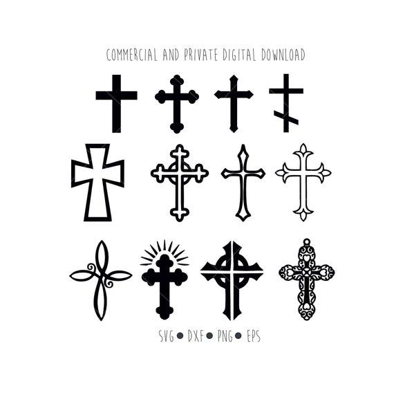 Cross Svg Digital Files Crosses Christian Clipart Cut File Etsy