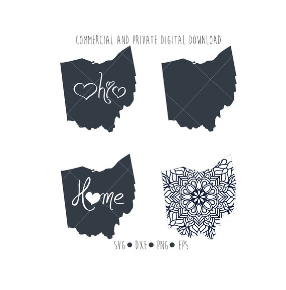 ohio state digital mandala cut file for silhouette and cricut etsy