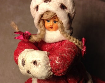 GERDA, SNOW QUEEN, Interior doll (Christmas toy)