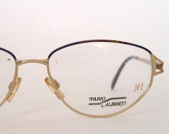76b4f447d018 Deadstock Vintage Gold Metal Oval Eyeglasses Frames for Women