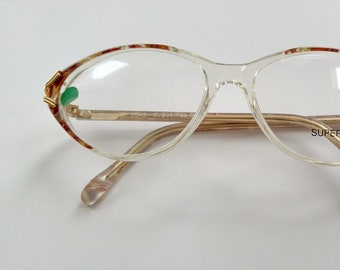 Superline France, Women's Tortoiseshell Cat Eye Glasses, 55/15 130   Made in France, Vintage 80s Frames, Deadstock, NEW OLD Stock