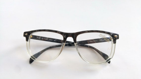 80s Vintage Wayfarer Eyeglasses / Clubmaster Eyeglasses Frames | Etsy