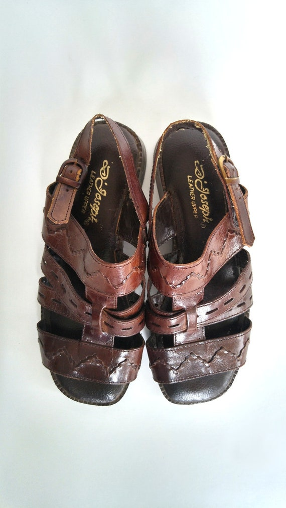 Comfort en Womens 7 sandales Joseph cuir de sandales avec appartements plates Boh brun Hippie sandales taille D Sandales sandales marrons boucle ZBCqW4Cd