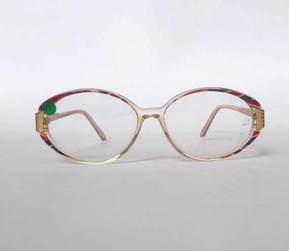 c20fa7baf61 Deadstock 90s Vintage Plastic Oval Eyeglasses for Women